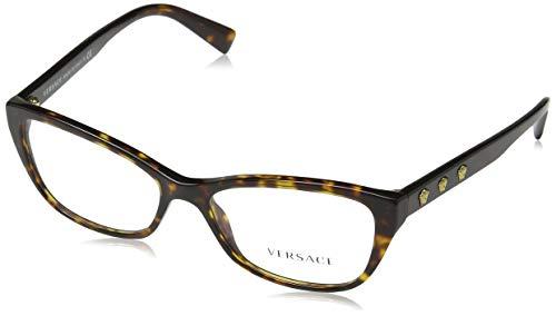 Versace Damen 0Ve3249 Brillengestell, Dark Havana, 54
