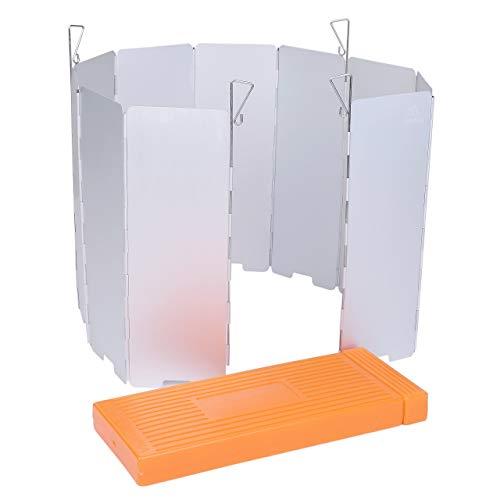 ZAFIELD ウインドスクリーン 風よけ 風防 アウトドア 10枚板 ロングタイプ 4本ペグ ハードケース付 (シルバ...