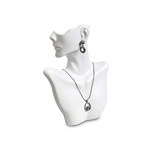 MOOCA SMALL Necklace & Earring Display Jewelry Displays for Shows Earring Display Stands Necklace Display Jewelry Mannequin Display Jewelry Bust Display, 7'W x 3'D x 9 1/2'H