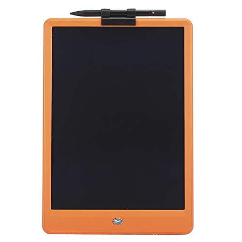 Elektronischer 10-Zoll-LCD-Schreibblock, flexibler ABS-LCD-Bildschirm Bunte, dicke Handschrift Kinder Elektronisches Zeichenbrett Lernpädagogik Spielzeug Trockenlöschkarten für Kinder(Orange)