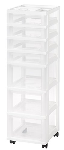 IRIS USA MC-343 NEW MINI CHEST, 7 Drawer, White