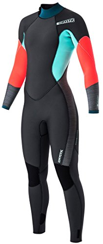 Mystic 2017 Diva Ladies 4/3mm Back Zip Wetsuit - Teal 170070