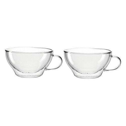 Leonardo Duo Teetassen, 2-er Set, 380 ml, hitzebeständig, handgefertigtes Glas, 029766