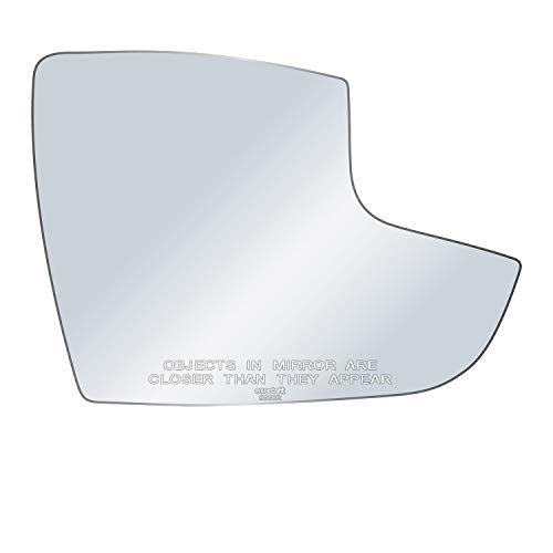 exactafit 8660R Passenger Side Mirror Glass Replacement Adhesives Compatible With 2012-2018 Ford Focus Diagonal 7-7/8 Inch