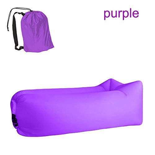 CZPF Lazy Sofa Lazy Bag Camping Slaapzak Dropshipping Slaapbank Luchtslaapbank Vochtbescherming Pad Opblaasbare ligstoel, Purple