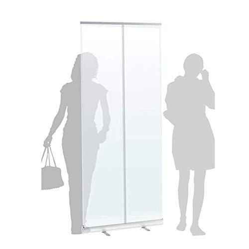 BGSFF Pancarta de rodillo transparente para dominadas, pantalla de protección para estornudos, pantalla de protección portátil transparente – 800 mm x 12000 mm – para distancias sociales, restaurantes