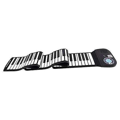 Soaying 88 Tasten Roll Up Piano Tragbares Tastatur Klavier mit Lautsprecher und Verbindungs Pedal für Kinder AnffNger Familie Spaa Reisen
