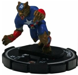 HeroClix: Capwolf (Chase Figure) # 61 (Uncommon) - Captain America