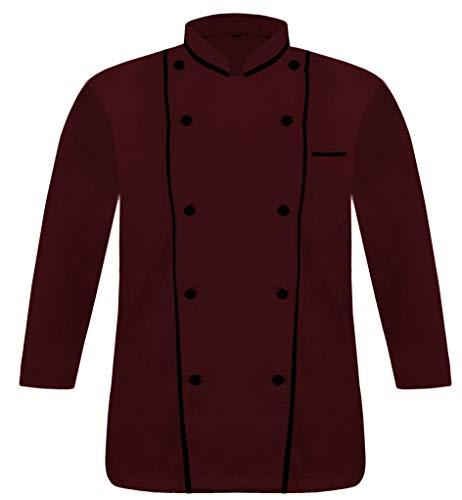 Blanco Vend Creation DP-07 hombres negro Pipings exclusivo chef chaqueta ligera culinaria multicolor chaqueta Chef abrigo