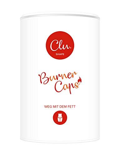 Clu Burner Kapseln | L-Carnitin | Appetitzügler | Kohlenhydratblocker | Vitamine | Made in Germany | Monatspackung 60 Kapseln