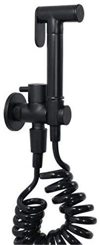para higiene personal de mascotas baño Closestool sentadillas – Juego de bidé negro compañero de inodoro bidé pistola grifo