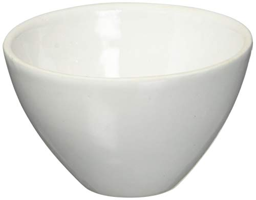 Fisher Scientific FB965L Fisherbrand Wide-Form Crucible, Porcelain, 50mL Capacity, 61mm Diameter, 37mm Height (Pack of 6)