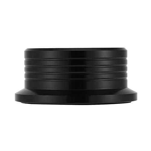 Recordstabilisatieklem, recordstabilisatieklem voor LP-draaitafels, draaitafel van aluminiumlegering met hoge precisie waterpas (50/60 Hz) (zwart)
