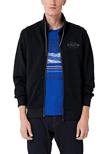 s.Oliver Herren 03.899.43.5231 Sweatshirt, Schwarz (Black 9999), Medium (Herstellergröße: M)