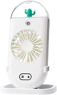 Taohou Ventilador de nebulización Manual Mini Ventilador Personal portátil de nebulización Recargable, Blanco