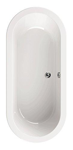 'aquaSu® 80191 1 Acryl-Badewanne loPama, Wanne, Weiß, 180 x 80 cm