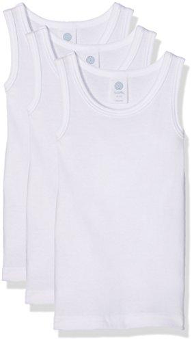 Sanetta Jungen 333735 Unterhemd, Weiß (White 10), 140 (3er Pack)