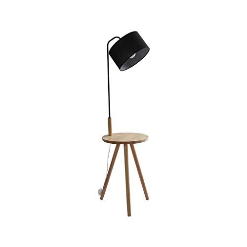 Vloerlamp, woonkamer slaapkamer, eenvoudige moderne bank, koffietafel, nachtkastje, houten lampen 0708LDD