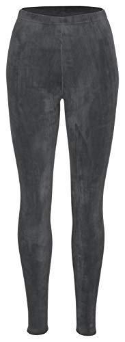 Tobeni Damen Winter-Leggings mit Teddy-Futter Thermo-Legging extra Kuschelig Warm Farbe Anthrazit Grösse S/M