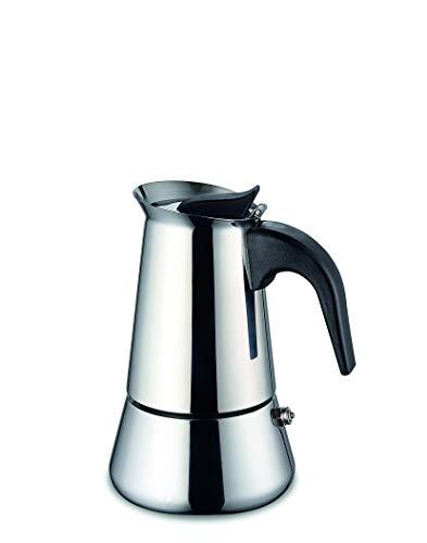 Weis 16972 Espressokocher Edelstahl für 2 Tassen