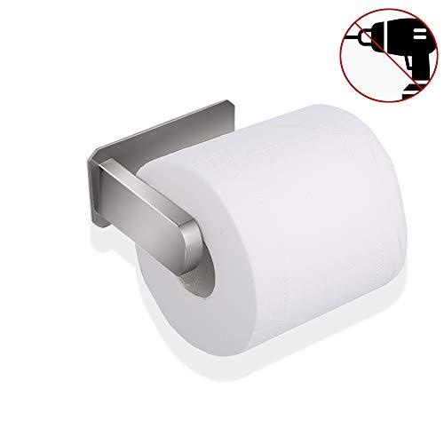 Warxin Toilettenpapierhalter ohne Bohren, Klopapierhalter Edelstahl Papierhalter Selbstklebend für Badezimmer Toilette Küche, Rostfrei, Silber