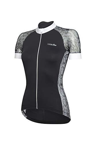 Zero Rh+ Elite W, Abbigliamento Woman Bike Jersey Donna, Black/White/Python, S