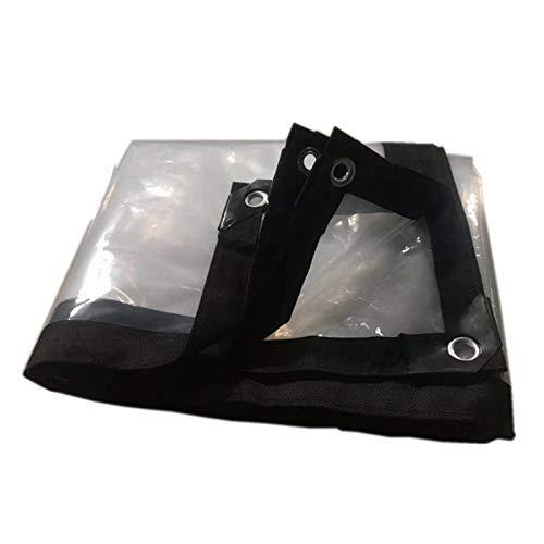 HJHNZDZH Lona Impermeable Transparente, con Ojales Gruesa Resistente a Los Rayos Ultravioleta a Prueba de Roturas 1 Agujero de Paso 1 Metro, Lona Resistente, para Muebles de Exterior, Transparente
