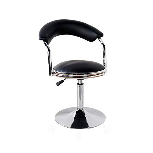 MOZUSA Taburetes de Barra giratoria Ajustable Taburetes de imitación de Cuero de Gas Lift sillas de Desayuno Cocina con Forma de Media Luna Volver cómoda (Color: Negro, tamaño: 80 * 40 * 40 cm)