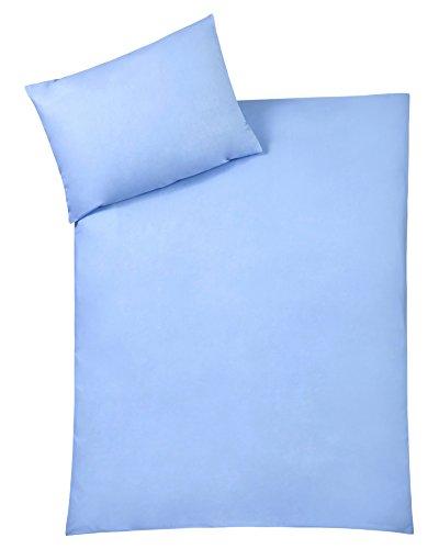 Julius Zöllner 85001 40317 - Bettwäsche Uni, Größe: 100x135 cm / 40x60 cm, uni blau