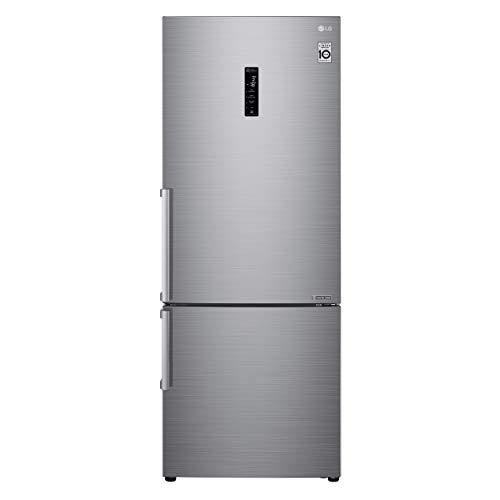 LG GBB567PZCMB1 - Frigorífico Combi 85 m, A++, capacidad de 374 l con dispensador de agua, serie 7, Inox Antihuellas