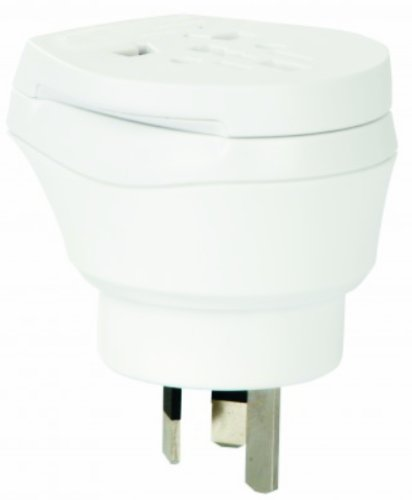 2 x Reiseadapter - Welt Kombi Reisestecker Stromadapter SET - Adapter für Estland auf Australien für Steckdosen mit Schukostecker, Euro, 2 pol und 3 polige Strom Netz Stecker - EE-AU