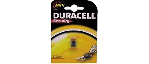 Duracell Piles Alkaline – Manganese code 37.1325.30 (MOD. MN11) – Conditionnement : 1 pcsBlister – Tension : 6 V – Capacité : 38 mAh – H x D : 16,2 x 20,2 mm – Poids : 111 g.