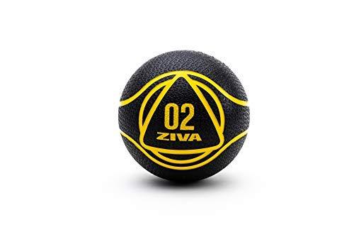 ZIVA Essentials - Pallone Medico, per Adulti, Unisex, Nero Giallo, 2 kg