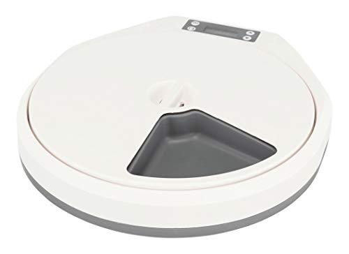 TRIXIE Futternapf TX5, 5 × 240 ml/33 × 5 × 36 cm, weiß-grau, Hund