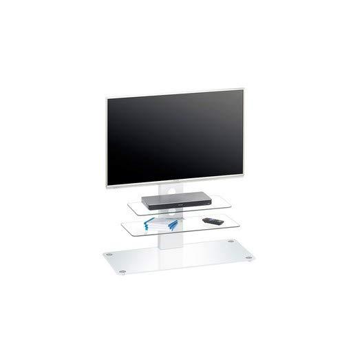 MAJA Möbel TV-Rack Glas Weiß