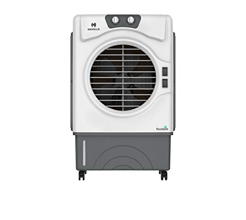 Havells Koolaire Woodwool 51 Litre Desert Air Cooler with Powerful Air Delivery (Silver), White, Grey