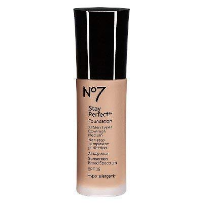 no7 Stay Perfect Foundation SPF 15 Cool Beige, 1oz, Cool Beige