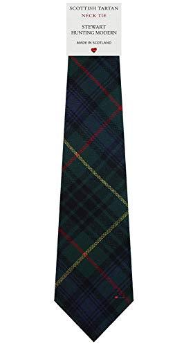 I Luv Ltd Cravate en Laine pour Homme Tissée et Fabriquée en Ecosse à Stewart Hunting Modern Tartan