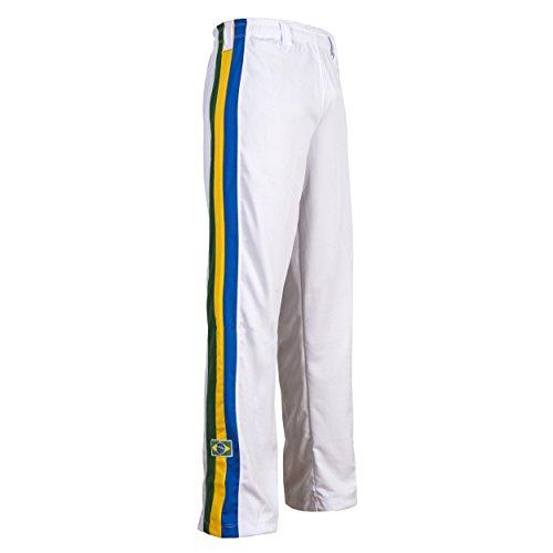 JL Sport Pantaloni Autentico Brasileiano Capoeira Arti Marziali del Ragazzo (Red) - 5-6