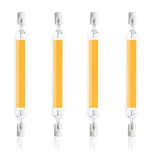 ALASON Ampoule LED R7S 78mm 10W, 1000Lm, Type J78, Lampe à Réflecteur Linéaire à économie D'énergie équivalente à Une Lampe Halogène 100W, 220-240V,Natural White,4PCS