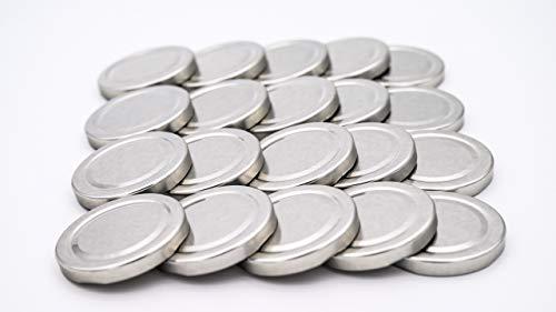 20 St. Ersatzdeckel Twist-Off-Deckel 66 mm Silber für Gläser zur Aufbewahrung und Bevorratung, Deckel für Einmachgläser, Marmeladengläser, Honiggläser, Feinkostgläser, Gewürzgläser to 66