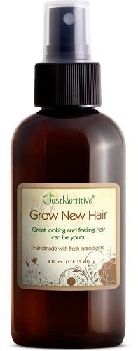 Grow New Hair Treatment   Hair Regrowth Oil   Natural Hair Care   Hair Growth Treatment For Men and Women   Just Nutritive   4 Oz
