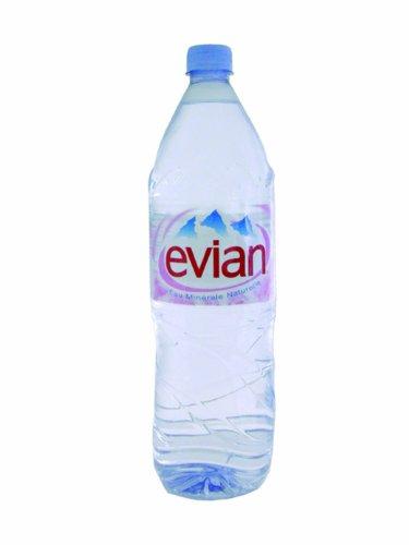 Evian Natürliches Mineralwasser Plastic Bottle 1,5 Liter Ref. 01110 [Pack 12]