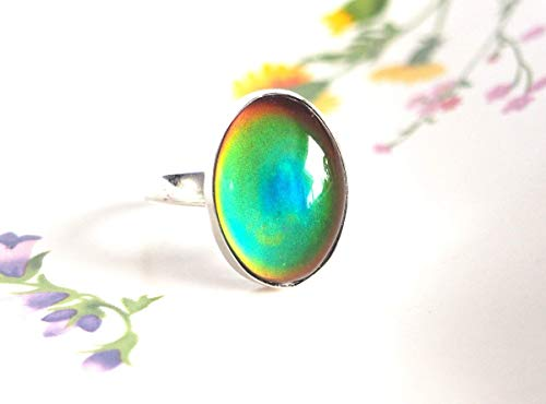 Adjustable Mood Ring in Sterling Silver