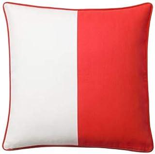 comprar comparacion MALINMARIA IKEA - Funda para cojín (100% algodón, 50 x 50 cm), Color Rojo y Blanco