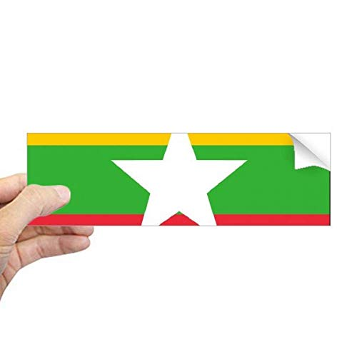 DIYthinker Myanmar Nationale Vlag Azië Land Rechthoek Bumper Sticker Notebook Window Decal