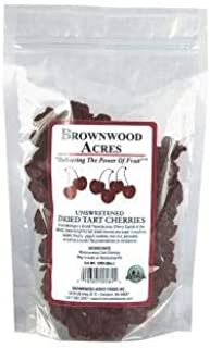 Unsweetened Dried Cherries by Brownwood Acres - No Added Sugars, Oils or fillers - Just Cherries! (1 Pound)