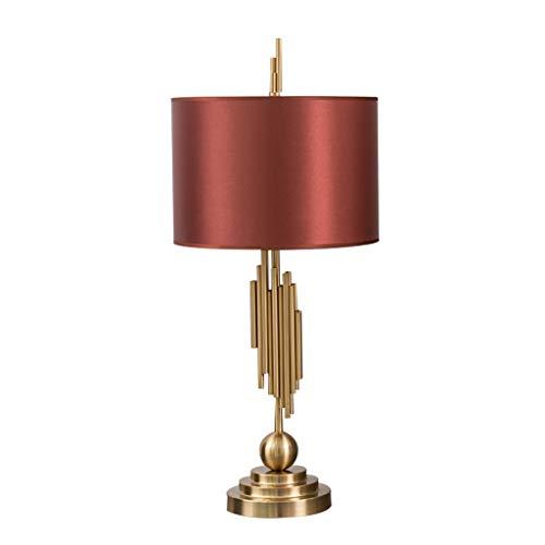 Lámpara de mesa moderna de metal para mesita de noche, para sala de estar, oficina, dormitorio, mesa de café, biblioteca, mesita de noche (interruptor: botón)