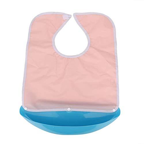 Qqmora Abnehmbare Essenszeit Lätzchen Erwachsene Schürze für ältere Menschen für die Körperpflege für Männer für zu Hause(Pink 40 * 55CM)