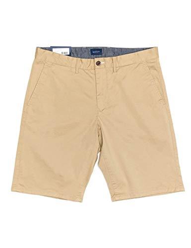 GANT D1. Relaxed Twill Shorts Pantalones Cortos, Dark Khaki, 34 para Hombre